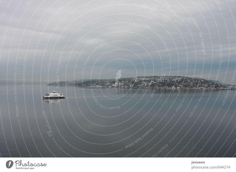 Fährmann, hol över! Ferien & Urlaub & Reisen Tourismus Meer Landschaft Wasser Himmel Wolken Horizont Küste Fjord Ostsee Schifffahrt Bootsfahrt Passagierschiff