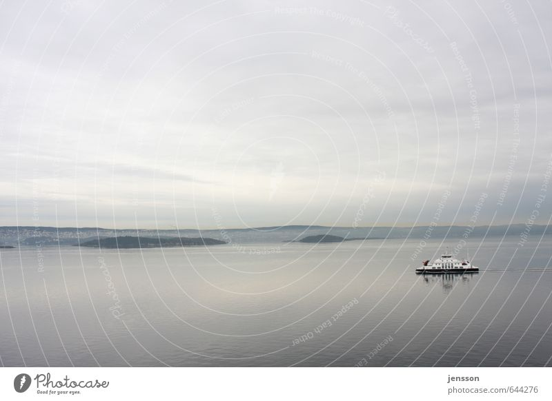Fährmann, hol över Landschaft Wasser Himmel Wolken Küste Fjord Ostsee Meer Verkehr Verkehrsmittel Verkehrswege Wege & Pfade Schifffahrt Bootsfahrt
