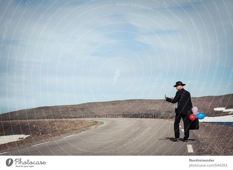 Keine Termine.... Mensch Mann Einsamkeit Ferne Erwachsene Leben Straße Reisefotografie sprechen Freiheit Glück Arbeit & Erwerbstätigkeit maskulin Business