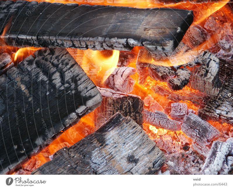 Glut Holz Grillen Dinge Brand
