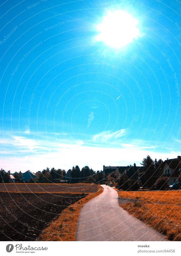 A way Himmel Sonne blau Ferien & Urlaub & Reisen Wege & Pfade