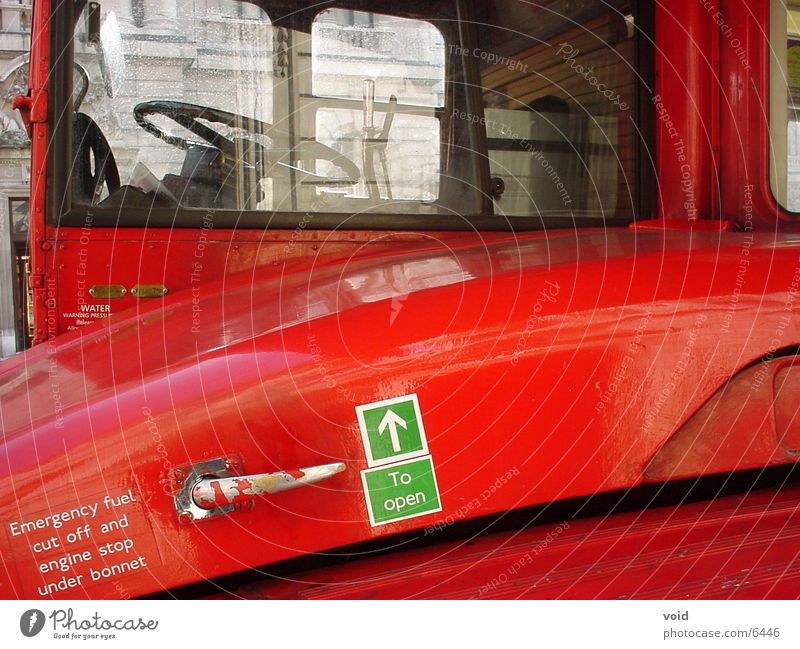 london bus rot London Bus England