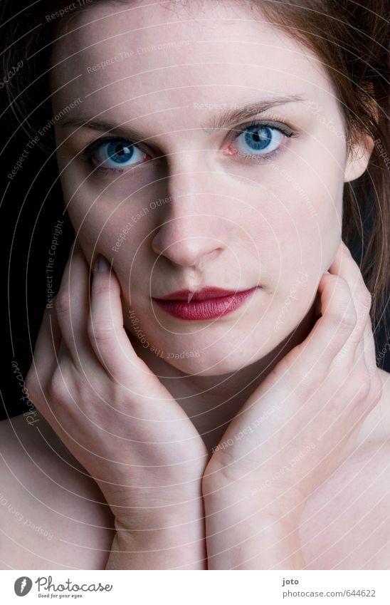 blickfang schön Körperpflege Haut Gesicht Kosmetik Schminke Lippenstift Gesundheit Leben harmonisch Wohlgefühl Sinnesorgane feminin Junge Frau Jugendliche nackt