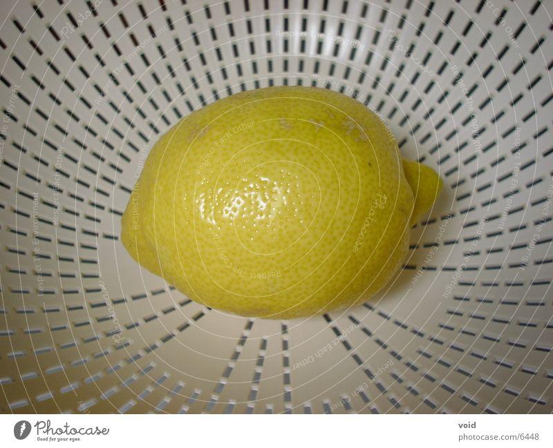 Zitrone Ernährung gelb Sieb