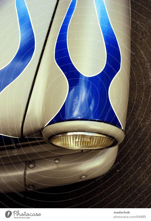 AUTO | karre tuning pimped flammen flames car aufmotzen berlin blau schön Straße grau PKW Verkehr fahren Tattoo KFZ brennen Flamme Kiste Sportveranstaltung