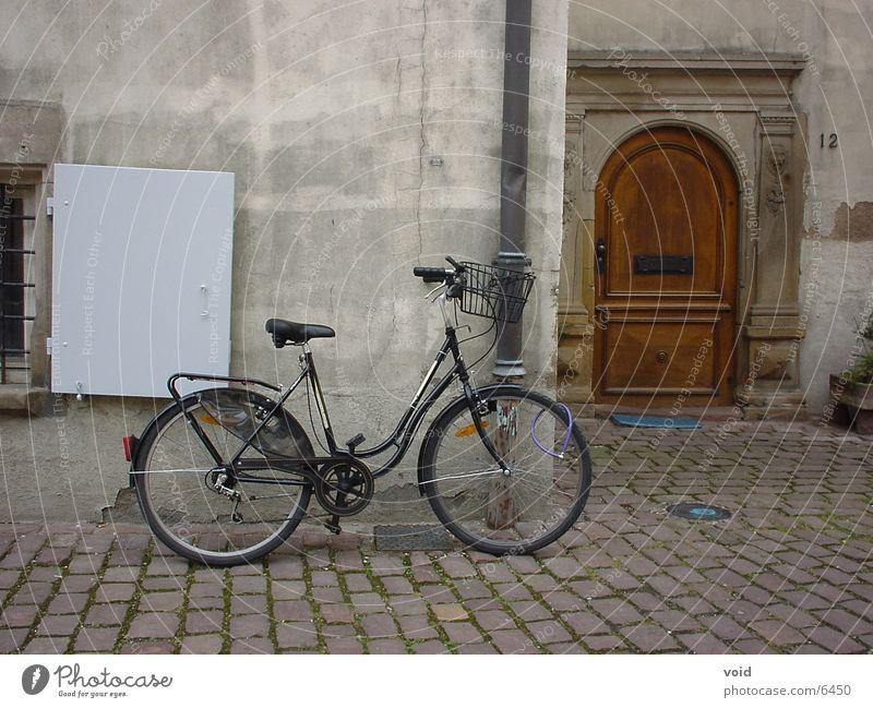 Fahrrad in Colmar Architektur