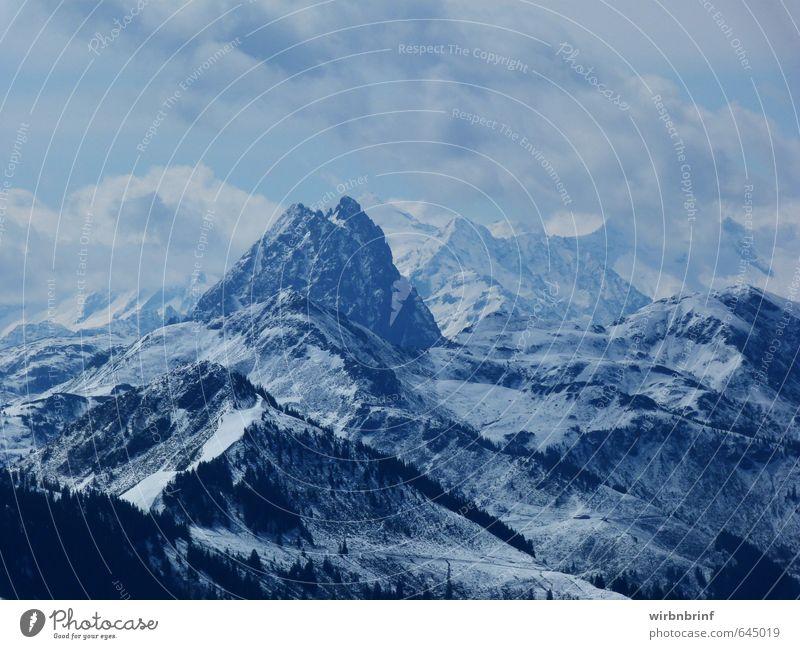 der Berg ruft..... Ferien & Urlaub & Reisen Tourismus Winter Schnee Winterurlaub Berge u. Gebirge Natur Wolken Schneefall Alpen Gipfel Schneebedeckte Gipfel
