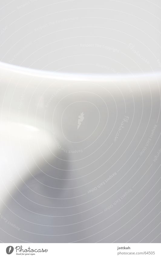 weiße weiche Kurven Tasse Keramik Licht abstrakt rund organisch Am Rand Material gekrümmt geschwungen Makroaufnahme Geschirr hell Strukturen & Formen Schatten