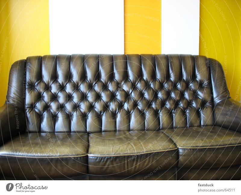 Freud 2006 weiß gelb Erholung Sofa