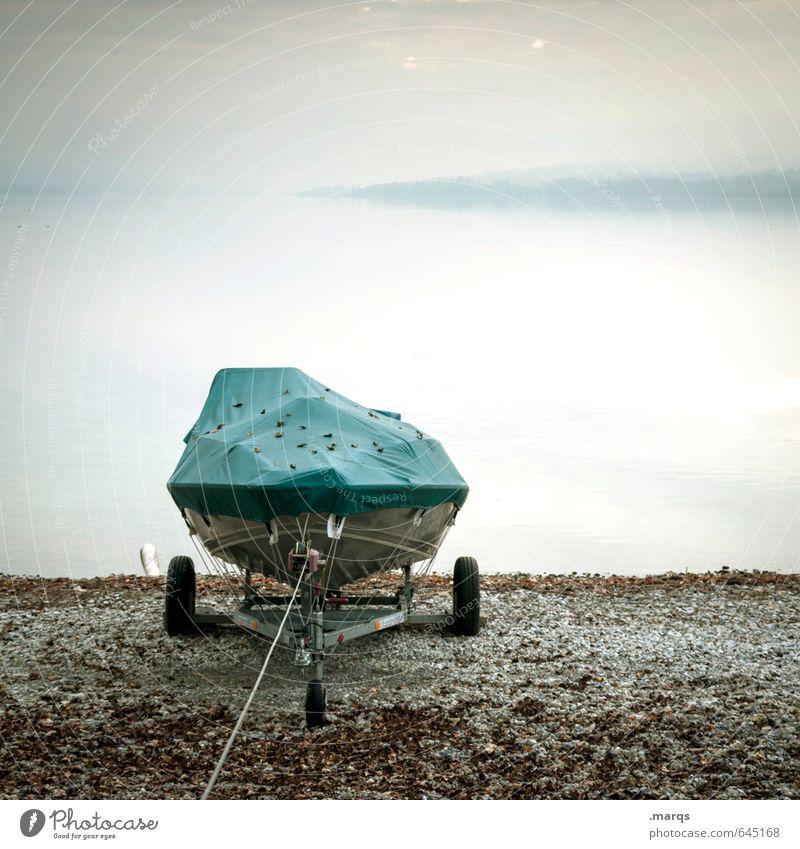 Winterfest Natur Ferien & Urlaub & Reisen Wasser Erholung Landschaft kalt Herbst See Wasserfahrzeug Stimmung Horizont Freizeit & Hobby Nebel Tourismus Klima