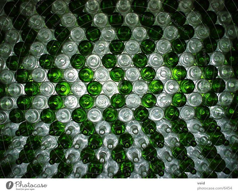 Flaschen grün Dinge Wein