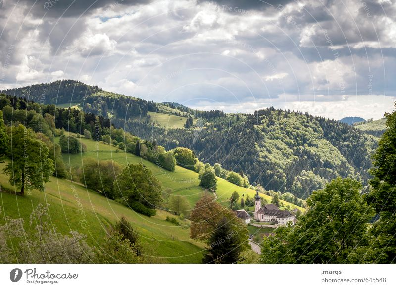 Wetter | Wechselhaft Himmel Natur schön Pflanze Sommer Erholung Landschaft Wolken Wald Berge u. Gebirge Umwelt Wiese Freiheit Religion & Glaube natürlich