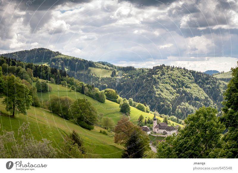 Wetter | Wechselhaft Tourismus Ausflug Umwelt Natur Landschaft Himmel Wolken Sonnenlicht Sommer Klima Schönes Wetter Pflanze Wiese Wald Hügel Berge u. Gebirge