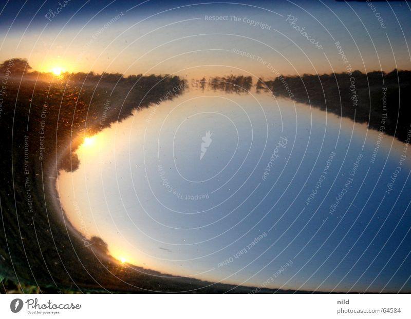 sunpoint x3 Himmel Sonne ruhig See Landschaft Stimmung Nebel rund weich Schönes Wetter Verlauf Wölbung Kotflügel