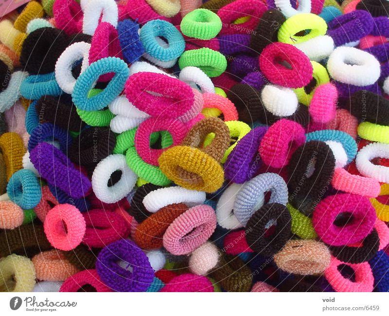 Haargummi Gummi mehrfarbig rund Dinge Farbe
