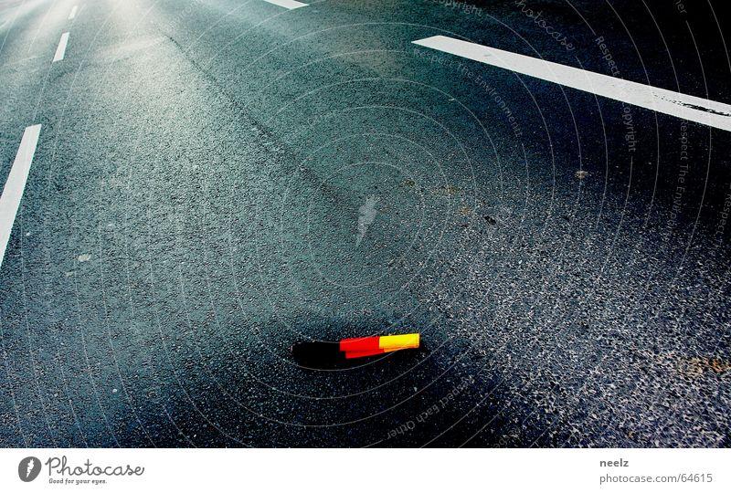 ...danach... Straße Fahne Deutsche Flagge Fan Weltmeisterschaft WM 2006