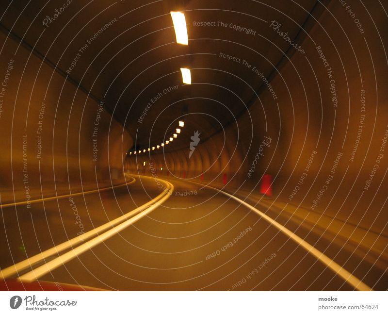 Concrete Tube Tunnel Beton dunkel Straße