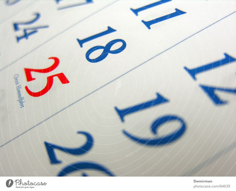 Diese Feiertage... blau rot Ferien & Urlaub & Reisen Freizeit & Hobby Schilder & Markierungen frei Ziffern & Zahlen Kalender Anordnung Monat kennzeichnen Woche