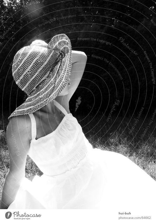 my.lady. Frau Mensch weiß Sonne schwarz Garten Wärme Haut elegant Suche Physik heiß Dame Hut früher Fräulein