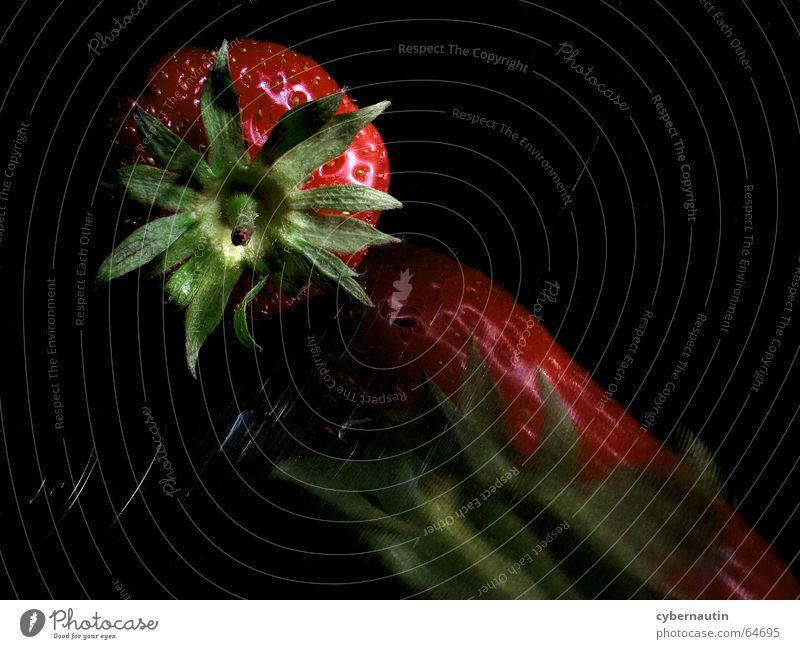 abtropfende Erdbeere Metall Frucht Wassertropfen Küche Erdbeeren Kratzer