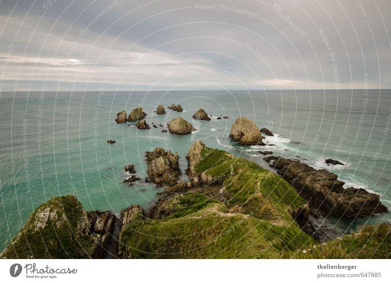 Nugget Point Neuseeland IIX Natur Landschaft Erde Wasser Himmel Wolken Gewitterwolken Sonnenaufgang Sonnenuntergang Meer Polarmeer Pazifik Schwimmen & Baden