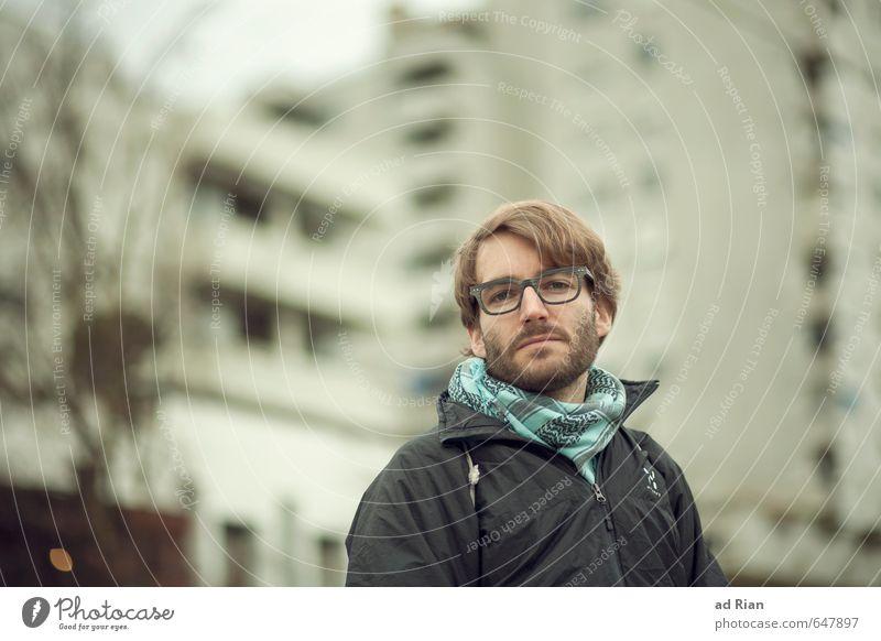 König vom Kiez! Mensch Jugendliche Stadt schön 18-30 Jahre Gesicht Erwachsene Wand Gebäude Mauer Stil Glück Kopf Freundschaft Fassade maskulin