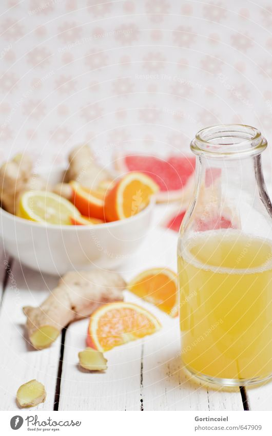 Ingwertee Gesunde Ernährung Gesundheit Lebensmittel Frucht Foodfotografie Orange frisch Ernährung Getränk Erkältung lecker Tee Bioprodukte Flasche Schalen & Schüsseln Zitrone