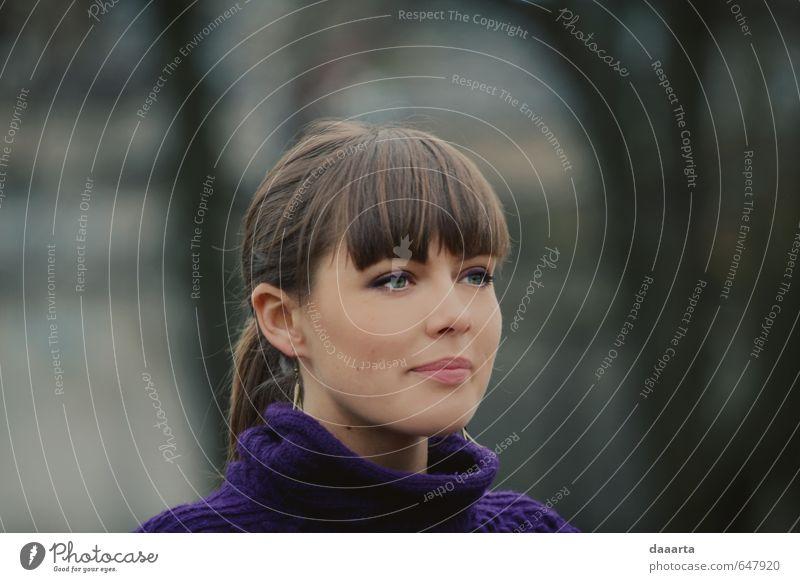 Mensch Natur Jugendliche schön Junge Frau Freude 18-30 Jahre Erwachsene Leben lustig feminin Stil Gesundheit Denken Lifestyle Park