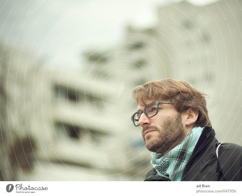 Du und deine Welt. Lifestyle elegant Brille Mensch maskulin Kopf Haare & Frisuren Gesicht Bart 1 18-30 Jahre Jugendliche Erwachsene Stadt Stadtzentrum Skyline