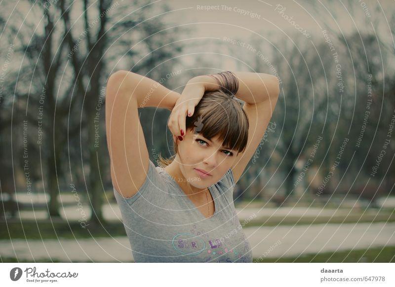 Mensch Frau Jugendliche schön Junge Frau Erholung Freude 18-30 Jahre Erwachsene Wärme feminin Gesundheit außergewöhnlich hell glänzend Design