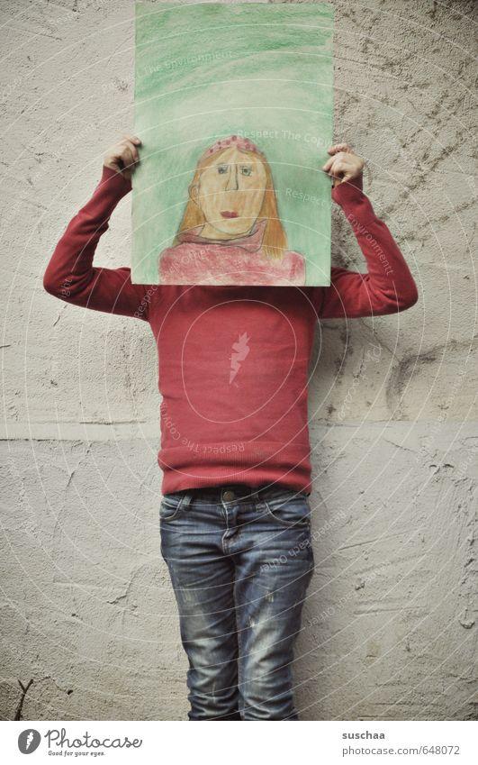 selbstbildnis feminin Kind Mädchen weiblich Kindheit Leben Körper Kopf Gesicht Arme Hand 8-13 Jahre Kunst Künstler Maler Kunstwerk Gemälde festhalten