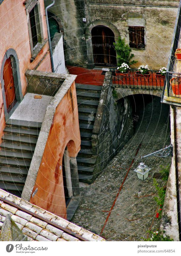 Civitella Gasse Flair Vogelperspektive Italien Dorf Haus Eingang civitella Leben Treppe Architektur