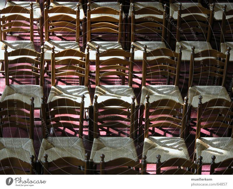 Wartende Stühle warten Stuhl