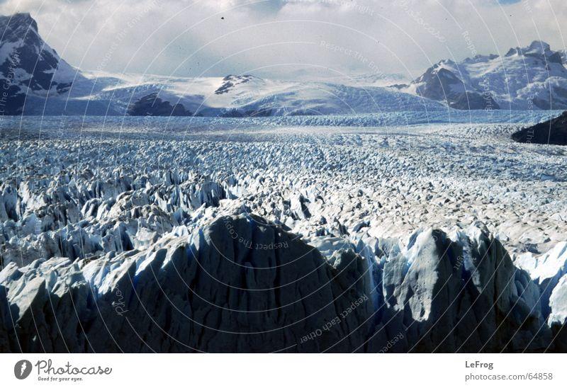 Perito-Moreno-Gletscher kalt Schnee Berge u. Gebirge Eis Reisefotografie Gletscher Argentinien