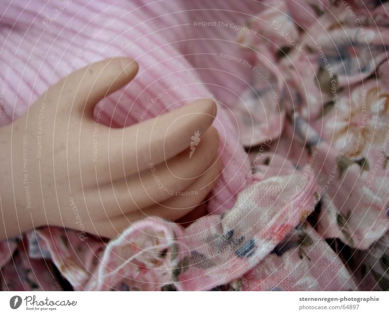 hand Porzellanpuppe Rüschen rosa Hand Finger Kind Spielen Spielzeug Sammlung Muster Puppe Geschirr Tod