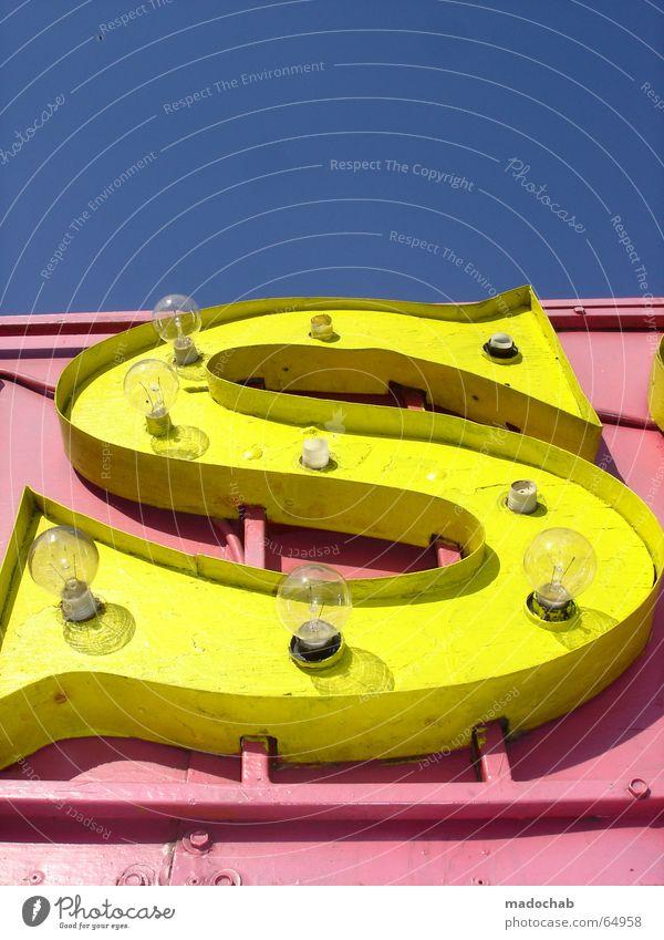 S WIE... | buchstabe typo schriftzug style grafik gelb rosa pink blau Freude Farbe Schriftzeichen Pause retro Buchstaben Kommunizieren Telekommunikation