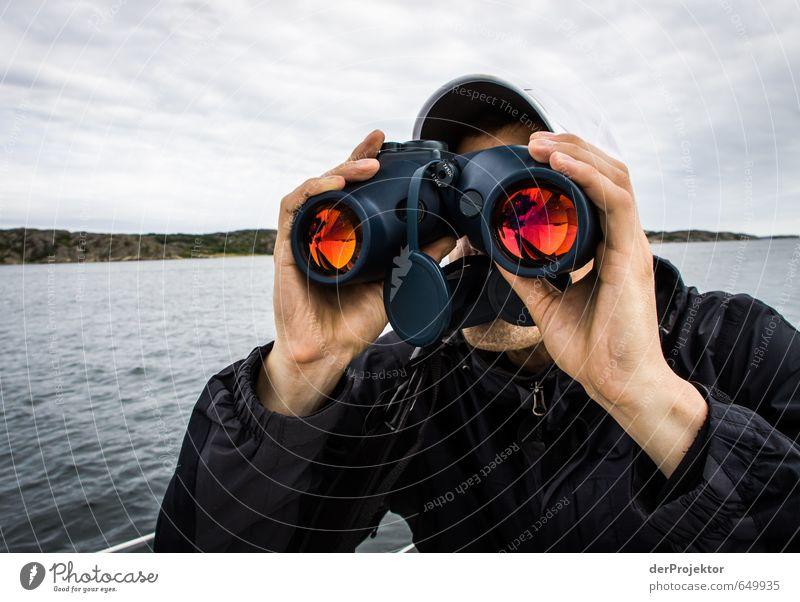 Überwacht wird überall... Lifestyle Freizeit & Hobby Sport Segeln Mensch maskulin Junger Mann Jugendliche Kopf 1 18-30 Jahre Erwachsene Schifffahrt Bootsfahrt