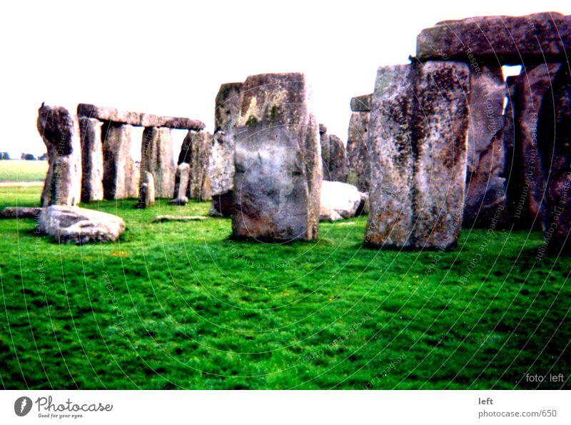 Stonehenge England Gras Stein misteriös Megalit
