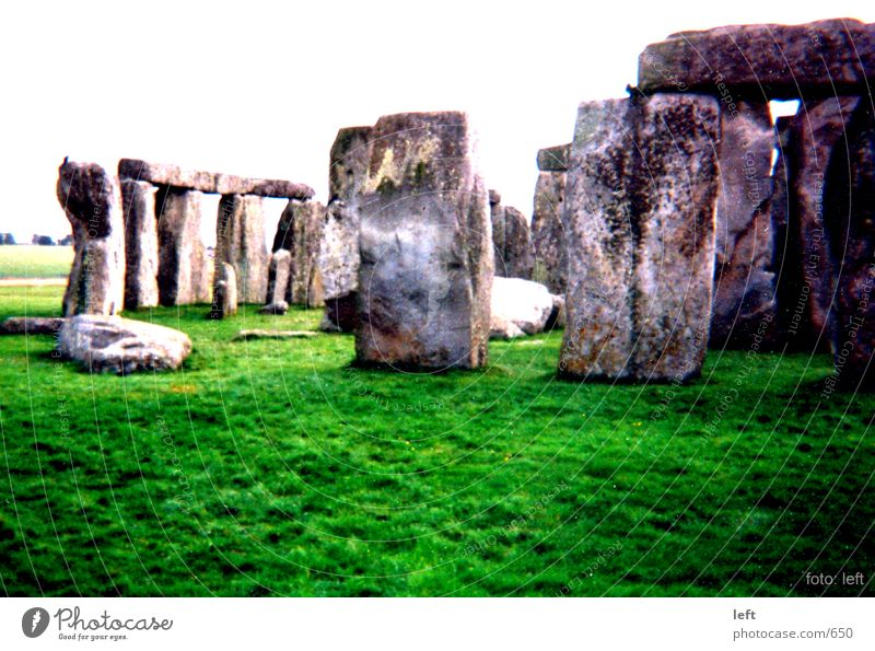 Stonehenge Gras Stein England