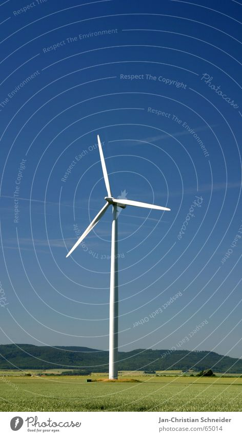 Windenergie Natur blau Bewegung Luft Energiewirtschaft Elektrizität Windkraftanlage ökologisch teuer
