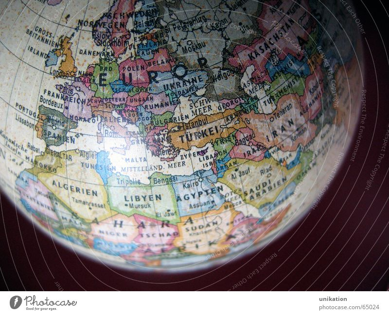 Europa Erde Erde Europa Amerika Globus Landkarte Planet Kontinente Weltkarte Geografie