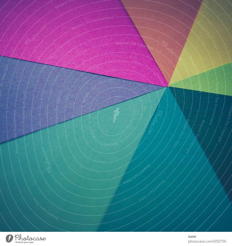 Alles Paletti blau grün rot gelb Stil Hintergrundbild Kunst Lifestyle rosa Design Freizeit & Hobby Kreativität Idee retro niedlich Papier