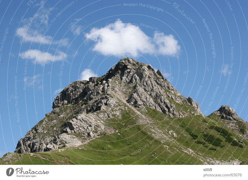 Der Berg ruft Österreich Wolken Berge u. Gebirge Alpen Himmel walsertal