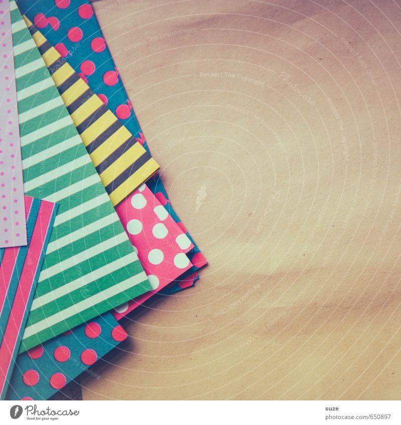 Papierecken schön Freude Stil Kunst Lifestyle Design Freizeit & Hobby Kreativität Idee einzigartig niedlich Papier Kultur Streifen Freundlichkeit Punkt