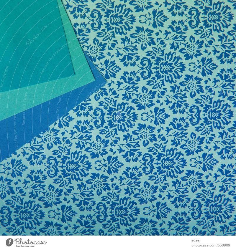 Mustafa11 blau schön Stil Hintergrundbild Kunst Lifestyle Design Freizeit & Hobby Kreativität Ecke Idee retro niedlich Papier Grafik u. Illustration Freundlichkeit