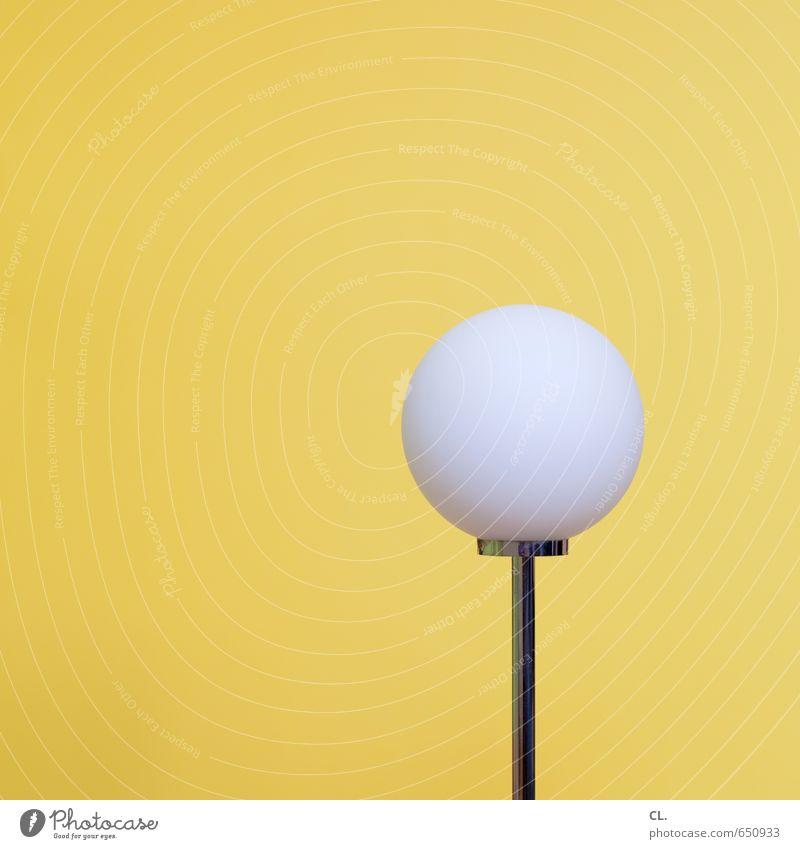 gepflegte langeweile weiß gelb Innenarchitektur Stil Lampe hell Wohnung Raum Häusliches Leben Ordnung ästhetisch Energie einfach rund Idee Glühbirne