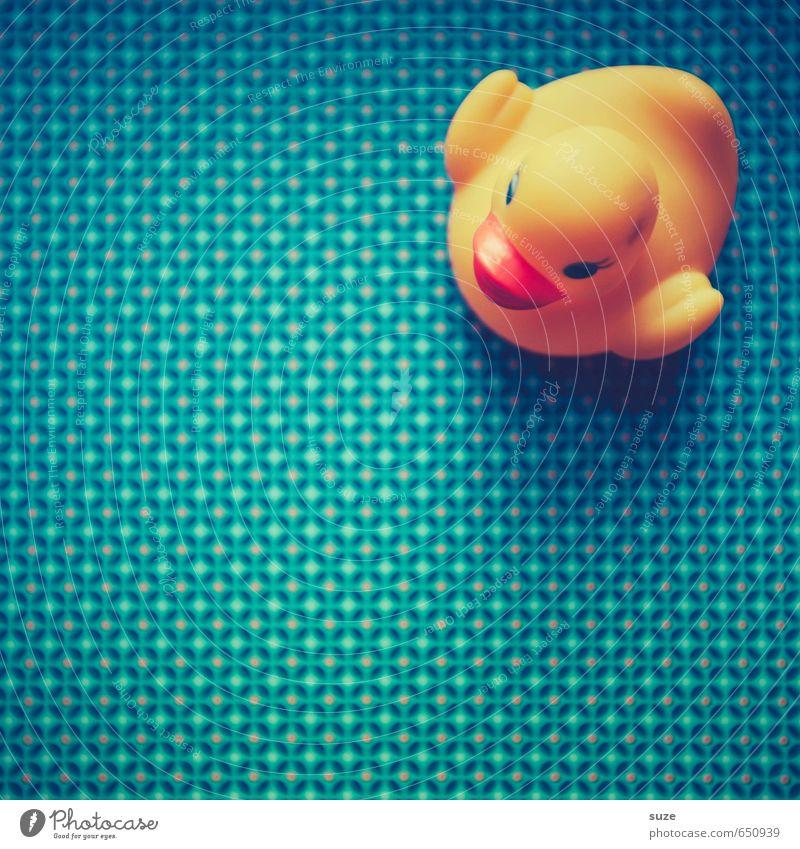 Badezusatz blau schön gelb lustig Spielen Stil klein Schwimmen & Baden Freizeit & Hobby Lifestyle Design Kindheit Fröhlichkeit niedlich Kreativität Papier