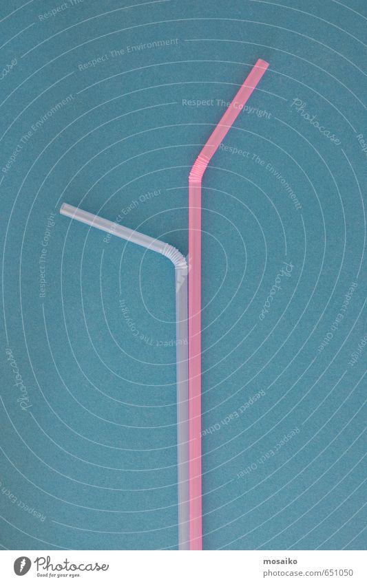Strohhalme Saft Design Freude Restaurant Feste & Feiern Geburtstag Menschengruppe Kunststoff Linie hell blau violett rosa beweglich Farbe Hintergrund Bar