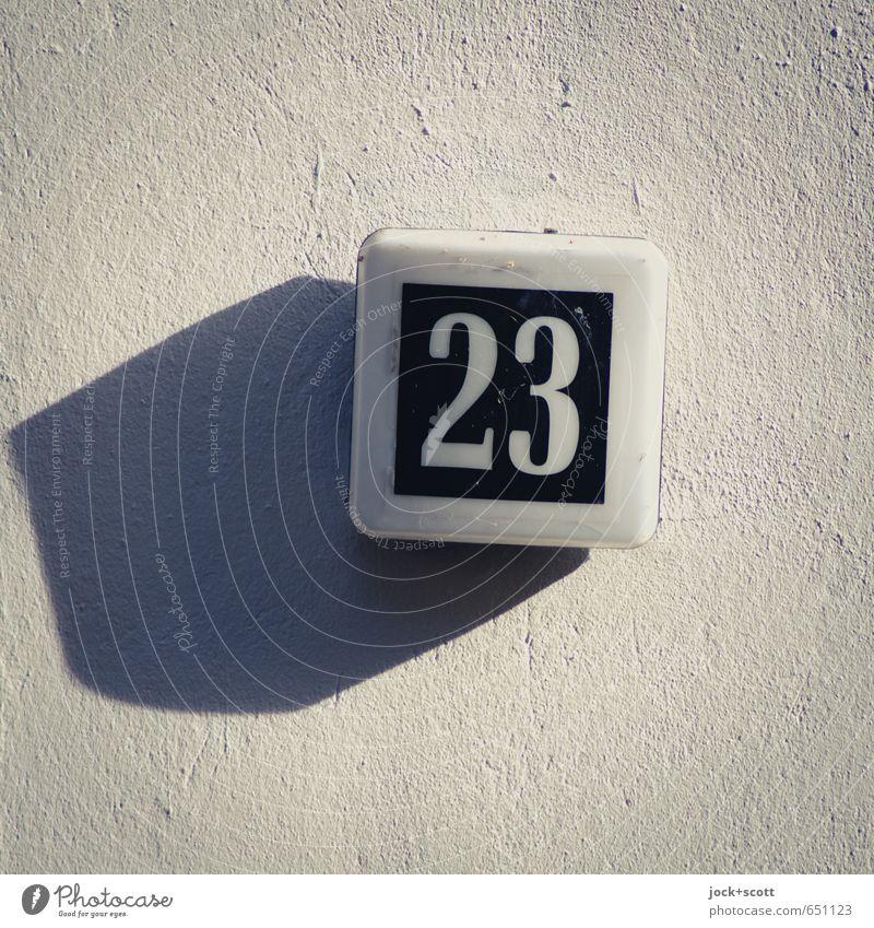 anscheinend dreiundzwanzig Wand Kunststoff Schilder & Markierungen 23 einfach Ordnungsliebe Design Mittelpunkt Stil Putz Quader Neigung Schlagschatten
