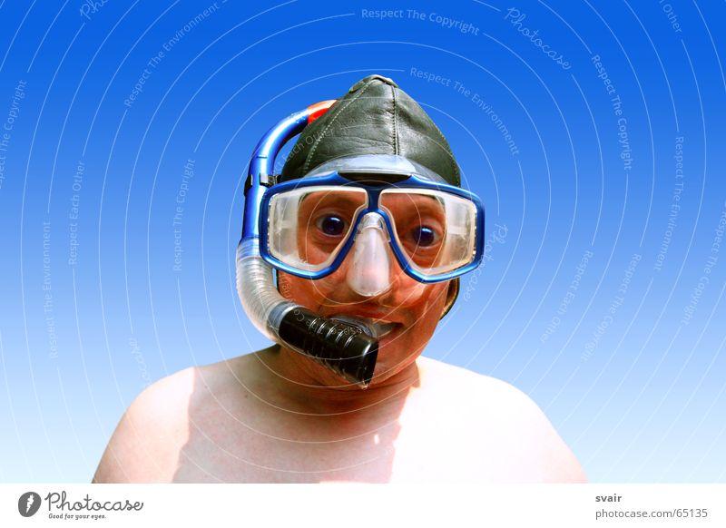 heiners tauchgang tauchen verrückt dumm Tauchgerät Brille Lederkappe Baseballmütze Mütze joke Maske Wasser motorradkappe Schwimmen & Baden